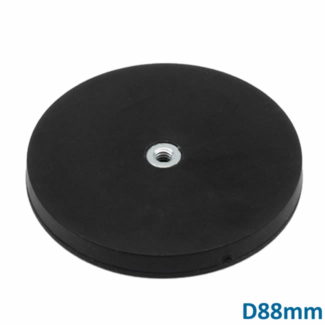 High Strength D88 Rubber Covered Holding Magnet with Boss Thread