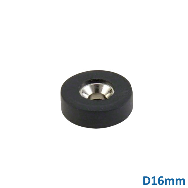 High-performance Rubber Coated Countersunk Neodymium Magnet N42