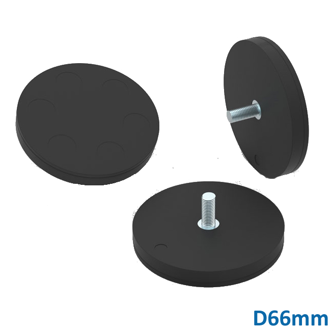 NdFeB Rubber Coated Permanent Magnets with Threaded Stud D66