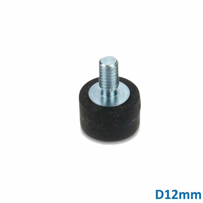 Neodymium Magnet Base with Rubber Coating, M4 Male Threaded Stud