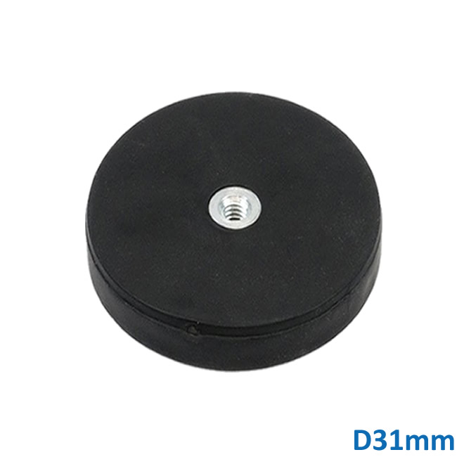 Ø31mm Magnetic Holder with Rubber-Coated Magnet High Adhesive Force