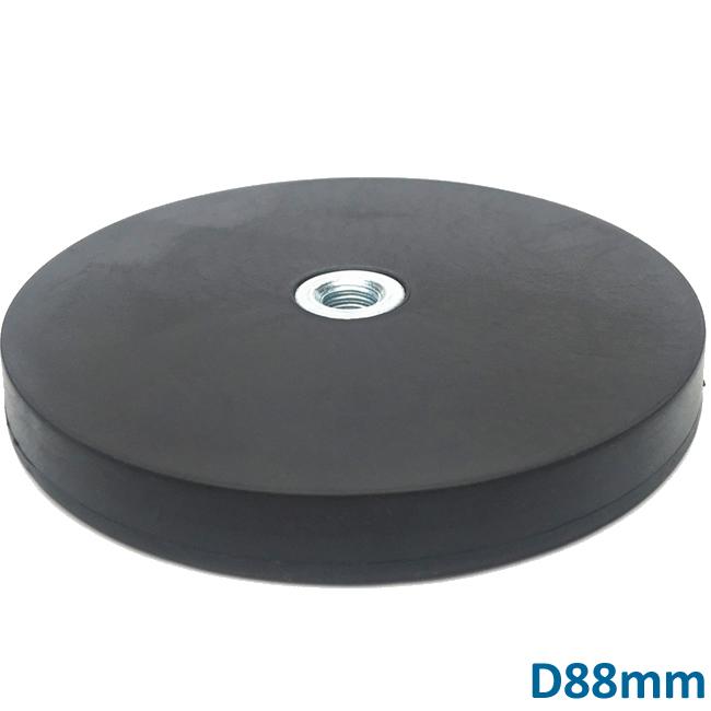 Rubber Covered NdFeB Light Fixing Magnet D88mm
