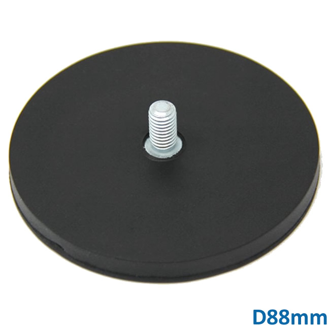 Rubber Jacket Threaded Rod Magnet Assembly D88mm M8