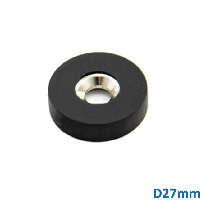 D27mm Rubber Coated Countersunk NdFeB Magnets