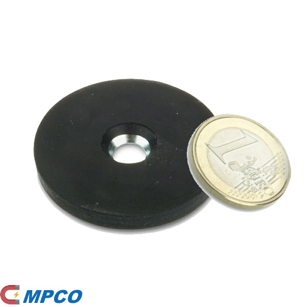 D43mm Rubber-cover Disc Magnet Fixing Holding System