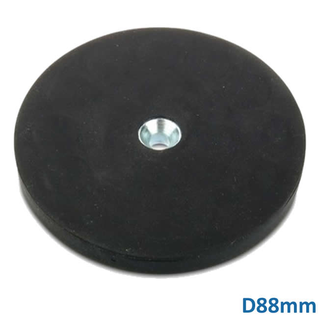 D88mm Big Round Rubber Encased Disc Magnet with Counter Bore