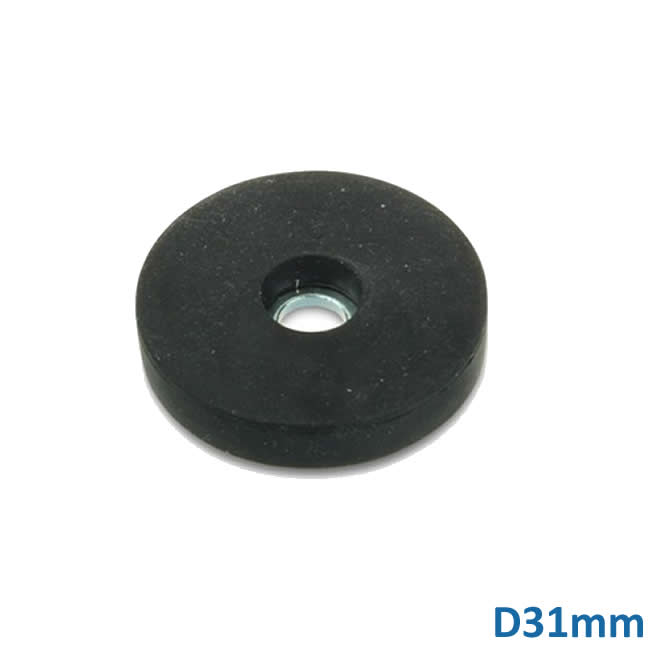 Hanging Countersunk Neo Magnets w Rubber Coating Dia31mm