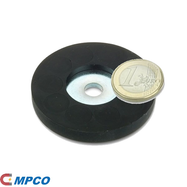 Rubber Coated Ceiling Hanging Magnet System D57mm