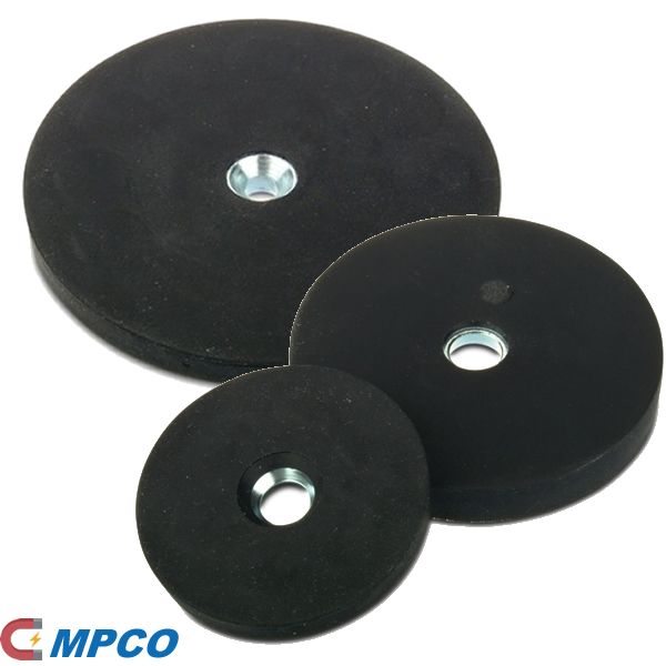 Rubber Coating Round Magnetic Ceiling Hanging System