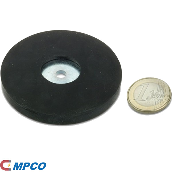 Santoprene Rubber Covered Magnetic System with Hole 66MM
