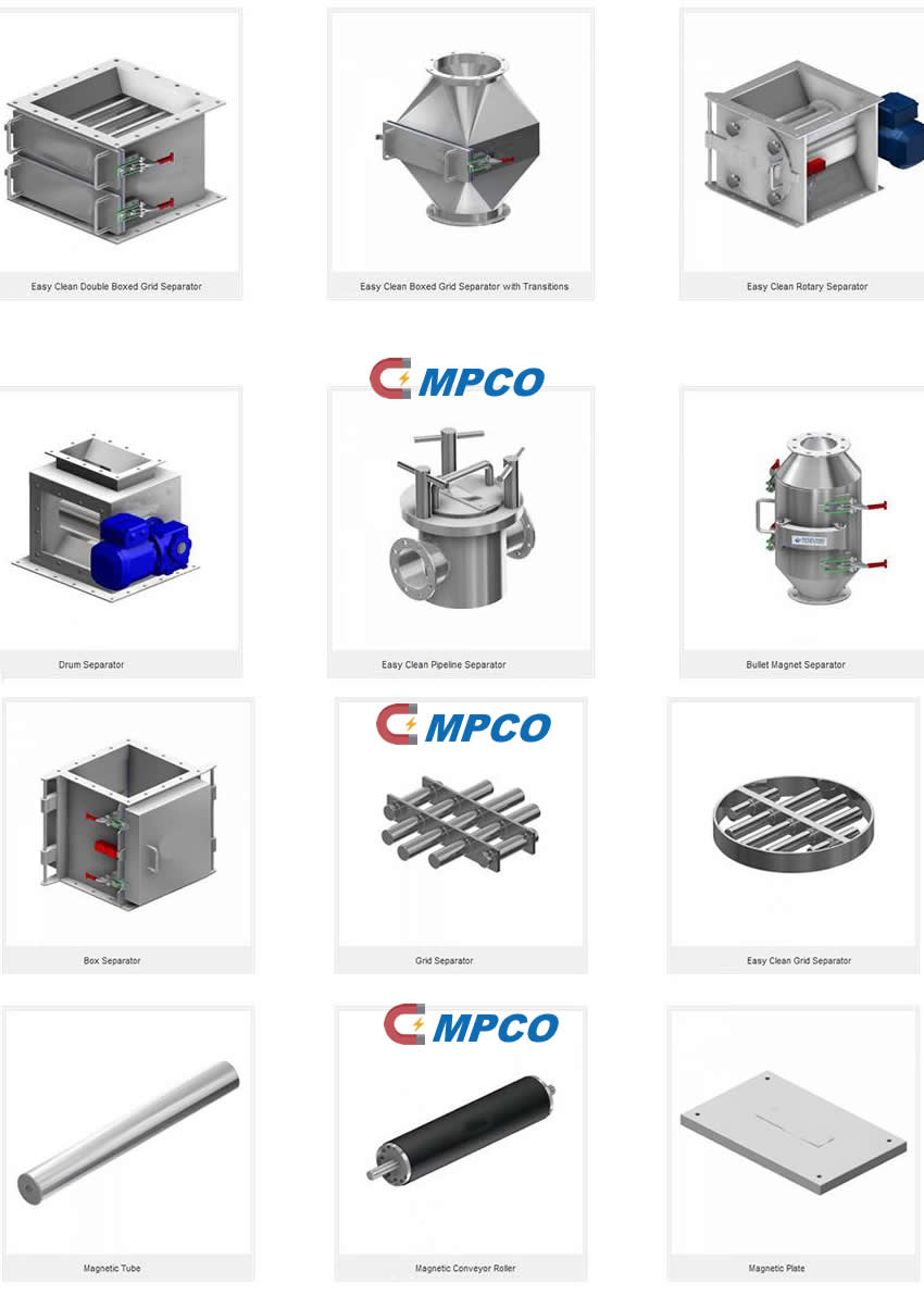 A Wide Range of Magnetic Separator Equipments for Foreign
