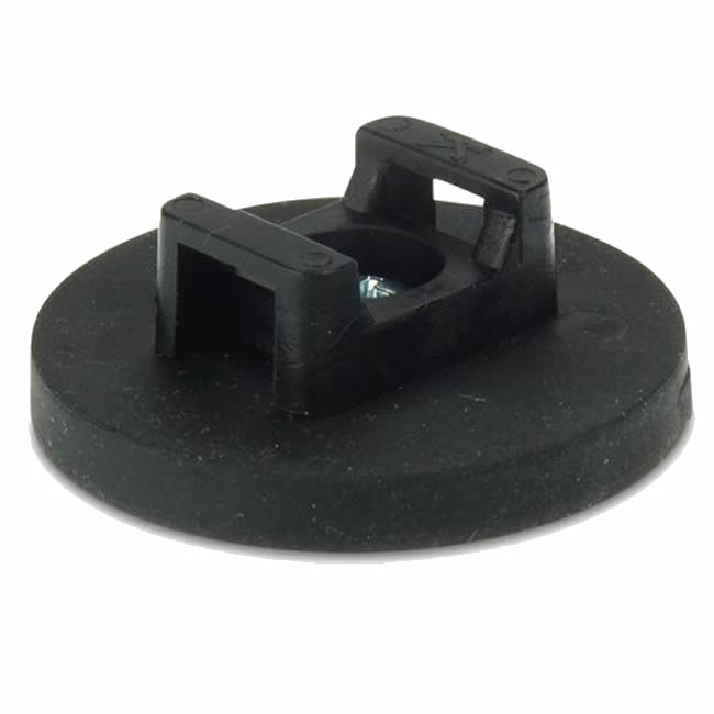 D43 x 16mm Rubber Coated Strong NdFeB Cable Holder Magnet