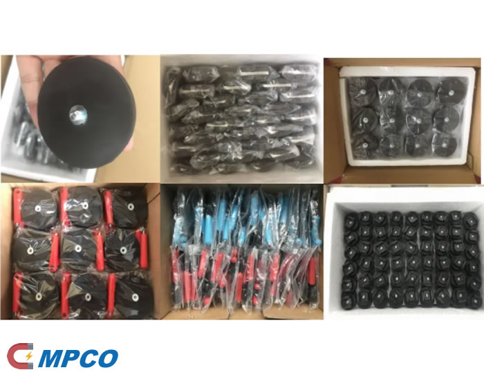 Rubber Covered Sintered Neodymium Pot Magnets Package