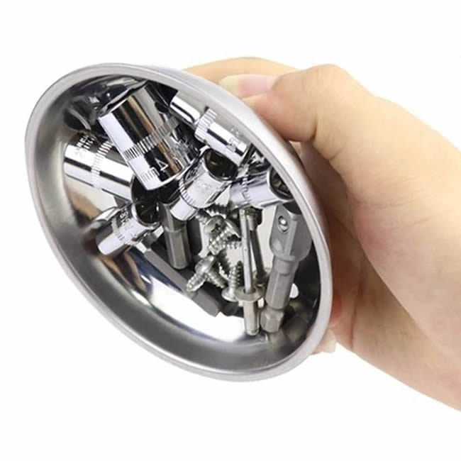 3 inch Awesome Little Magnetic Stainless Steel Bowl Dish for Holding Bits