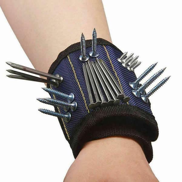 Blue Adjustable Wrist Magnetic Arm Band