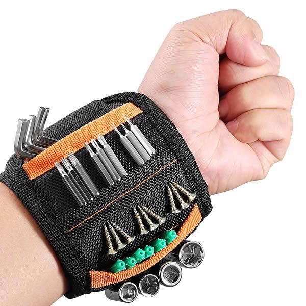 Portable Strong Magnet Strap Belt Tools Holder Screws Nuts Nails