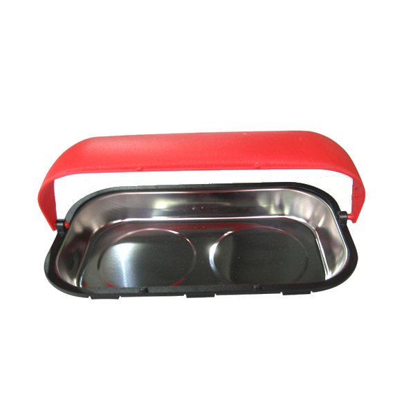Rectangle Stainless Steel Magnetic Bolts Tray with Plastic Handle