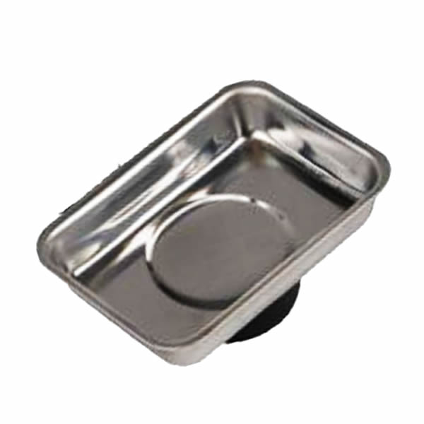 Small Magnetic Stainless Steel Trays with Strong Magnet PVC Base