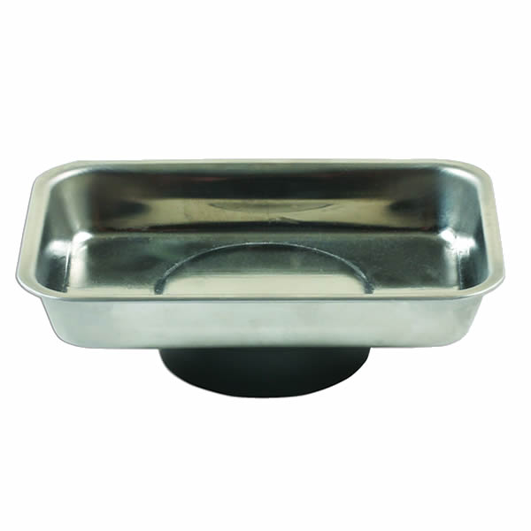 Stainless Steel Mini Magnetic Parts Tray Dish 64x93x14mm