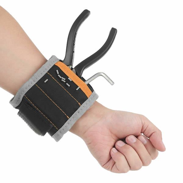 Strong Magnetic Wristband Bracelet Belt Repair Tool Bag Pocket Pouch