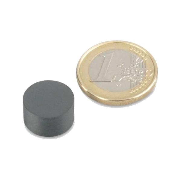 Hard Ferrite (Ceramic) Circle Disc Therapy Magnet Ø14x8mm Y30