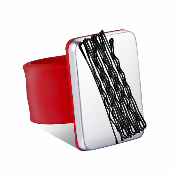Magnetic Silicone Wrist Strap Bracelet to Hold Metal Bobby Pins and Clips