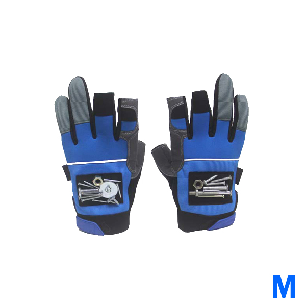 Medium Fingerless Magnetic Glove with Powerful Magnets for Drill, Hammer or Tools