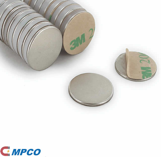 Neodymium Adhesive Backed Disc Magnets