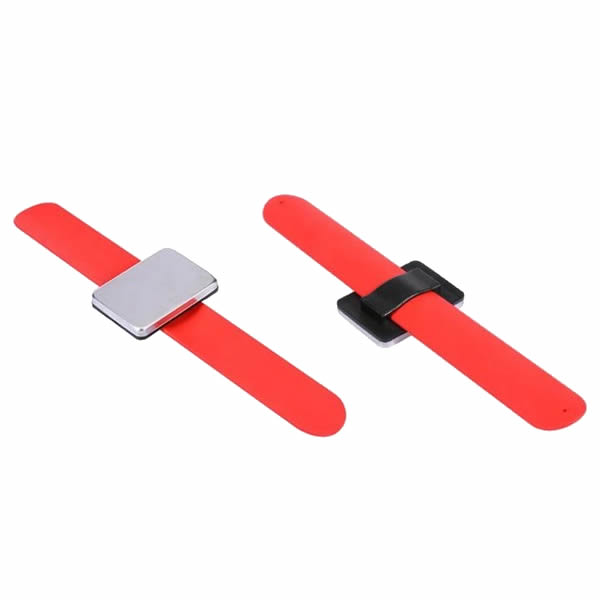 Silicone Magnetic Hair Clips Wristband Strap Bracelet