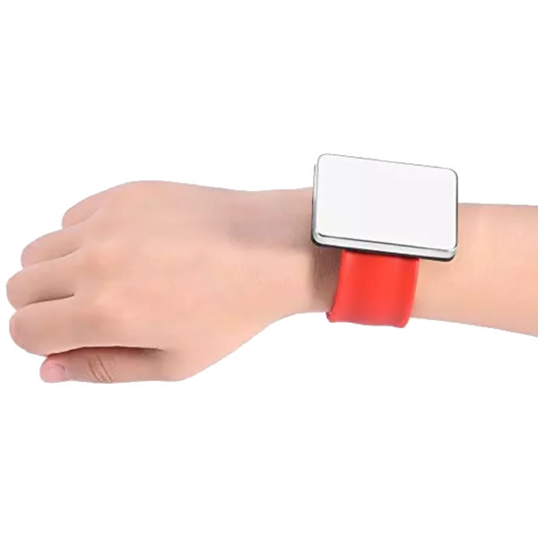 Silicone Square Hair Salon Magnetic Pin Bracelet For Barbershop