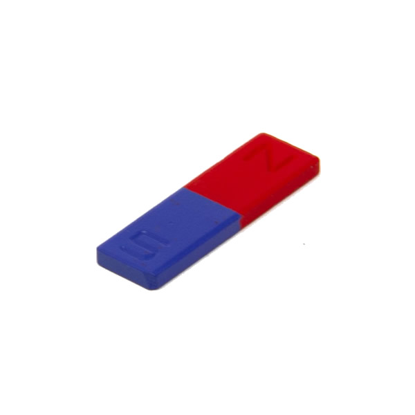 50mm Painted Ferrite Bar Experiment Magnets with Identified Poles