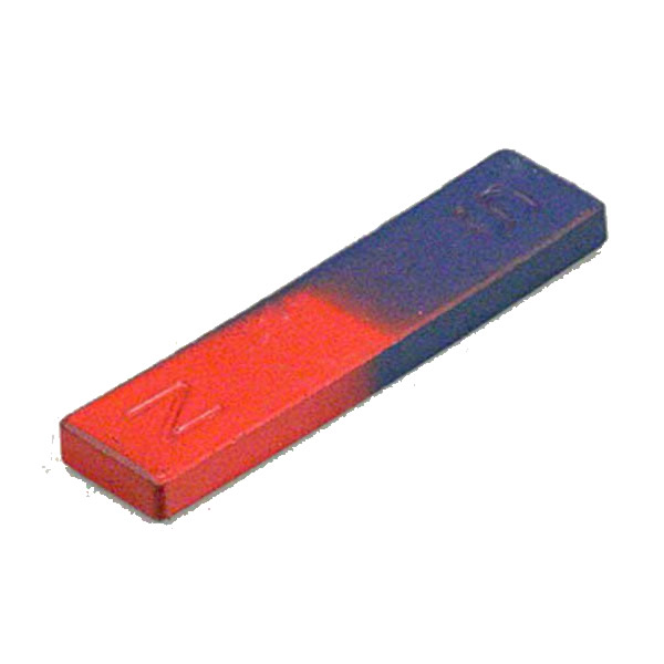75mm Blue & Red Painted Bar Permanent Magnet Ferrite for Kids