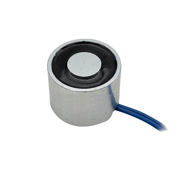 24V 50N 5kgs Round Flat-Faced Electromagnet 2015mm