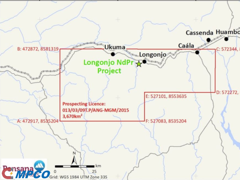Longonjo Neodymium-Praseodymium Project of Angola