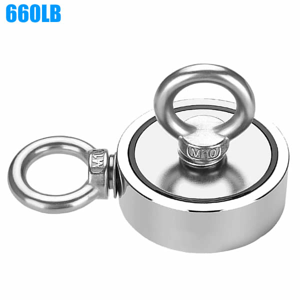 Neodymium Double Sided Fishing and Retrieving Magnet in River Sea