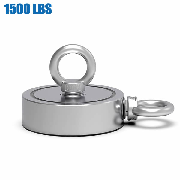 1500lbs Combined Strength Double Sided Fishing Magnet
