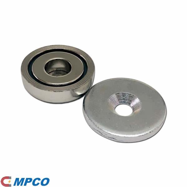 25mm Neodymium Pot Magnet with Keeper Steel