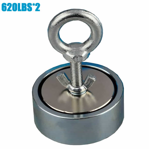 620LBS2 Neodymium Double Sided Fishing Searching Eyebolt Magnet